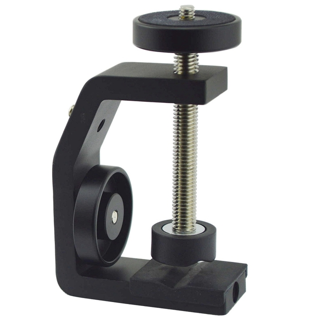 FFYY Multifunctional Aluminum Clip UNC1/4 Inch Screw Universal C Stand Clamp For Camera Tripod Flash Holder Bracket