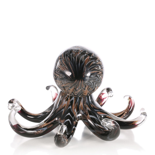 Black Octopus Glass Figurine 5