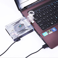 VBNM Portable USB Powered Suction Type Cooling Fan Slim Laptop Cooling Pads Cooling Fan For Notebook