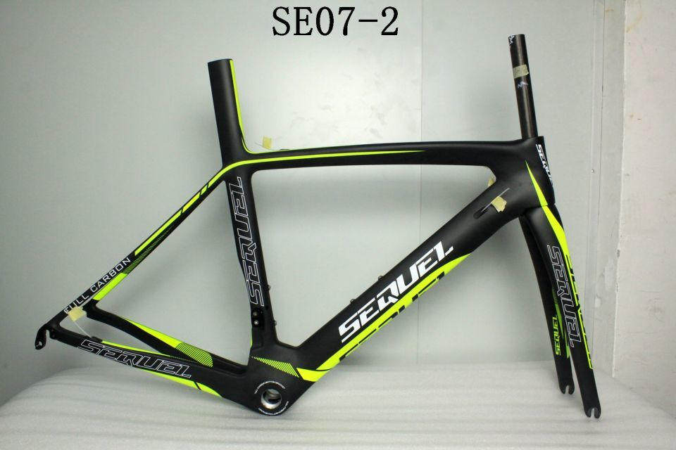 SEQUEL brand frame SE07-2 good quality and price on sale XS/S/M/L/XL BSA/BB30 frame road carbon china carbon frame road custom женский закрытый купальник new brand s m l xl c10001