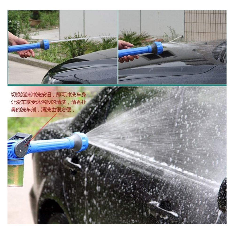 HTB1u8OebRKw3KVjSZTEq6AuRpXaE Multi-function sprinkler 8 IN 1 Garden Hose Nozzle Water Soap Dispenser Pump Spray Gun Car Washer Cleaning