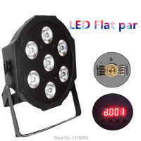 LED Luxury DMX 4 8 Channels Led Flat Par Light 7x12W RGBW 4IN1