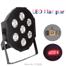 4pcs/lot LED Luxury DMX 8 Channels Led Flat Par Light 7x12W RGBW 4IN1 Fast Shipping