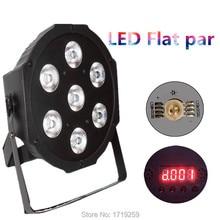 4pcs/lot LED Luxury DMX 8 Channels Led Flat Par Light 7x12W RGBW 4IN1 Fast Shipping