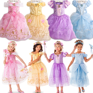 Girls Cinderella Rapunzel Princess Party Dress for Girl Christmas Vestidos Children Cosplay Costume Kids Baby Belle Sofia Dress(China)