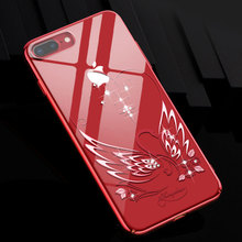 Бриллиантовый Лебедь жесткий прозрачный блестящий тонкий чехол для телефона для iPhone 7 8 Plus для женщин Роскошная задняя крышка Кристалл Стразы Kingxbar