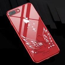 Diamentowy łabędź twardy jasny Bling szczupły telefon skrzynki pokrywa dla iPhone 7 8 Plus dla kobiet luksusowy powrót powłoki kryształ Rhinestone Kingxbar
