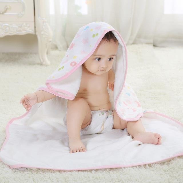 1 peça de Alta Qualidade da Fibra de Bambu gaze Bebê Toalha de Banho Saudável Para O Bebê Recém-nascido 80x75 cm