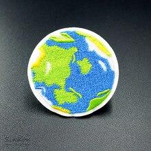 Earth 5,0X5,0 см железная нашивка для шитья вышитая аппликация швейная одежда наклейки для одежды DIY аксессуары для одежды