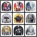 New 2016 women/men's Suicide Squad Harley Quinn Joker anime Sweatshirt 3D Naruto funny graphic Hoodies Streetwear