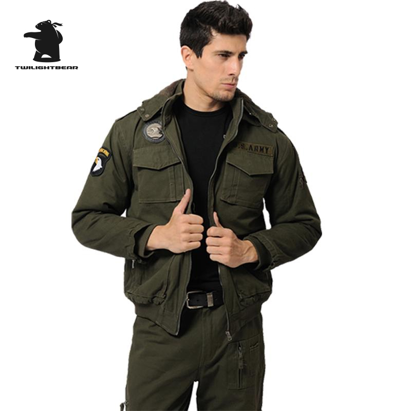 Military Men s Casual Cotton Jacket New High Quality Brand Thickening Winter Jacket Men Warm Coat