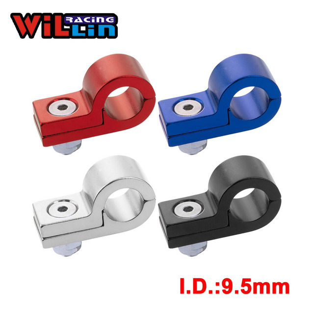 WILLIN - Billet Aluminum Line P Clamps To Suit I.D. 9.5MM 3/8'' Tubing Line WLJN02-03 Gold/Purple/Red/Blue/Silver/Black