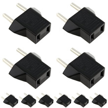 10PCS USA US To EU Euro Europe AC Power Plug Converter Travel Adapter Charger for switch new 10pcs set us usa to eu europe ac power travel wall plug adapter converter