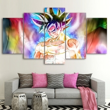 Canvas Poster HD Dragon Ball Goku Paintings Home Decor Abstract Pictures