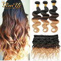 1B/4/27 Ombre 3 Tone Brazilian Hair Body Wave 7A Unprocessed Ombre Virgin Hair Ombre Human Hair Extensions 3Bundles FreeShipping