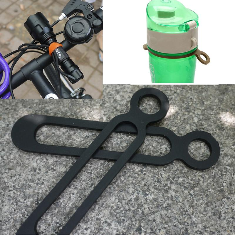 Wholesale Silicone Bicycle Flashlight Band Bottle Buckle Outdoor Mountain Road Bike Cycling Sports Tie Strap Band Bandage Holder