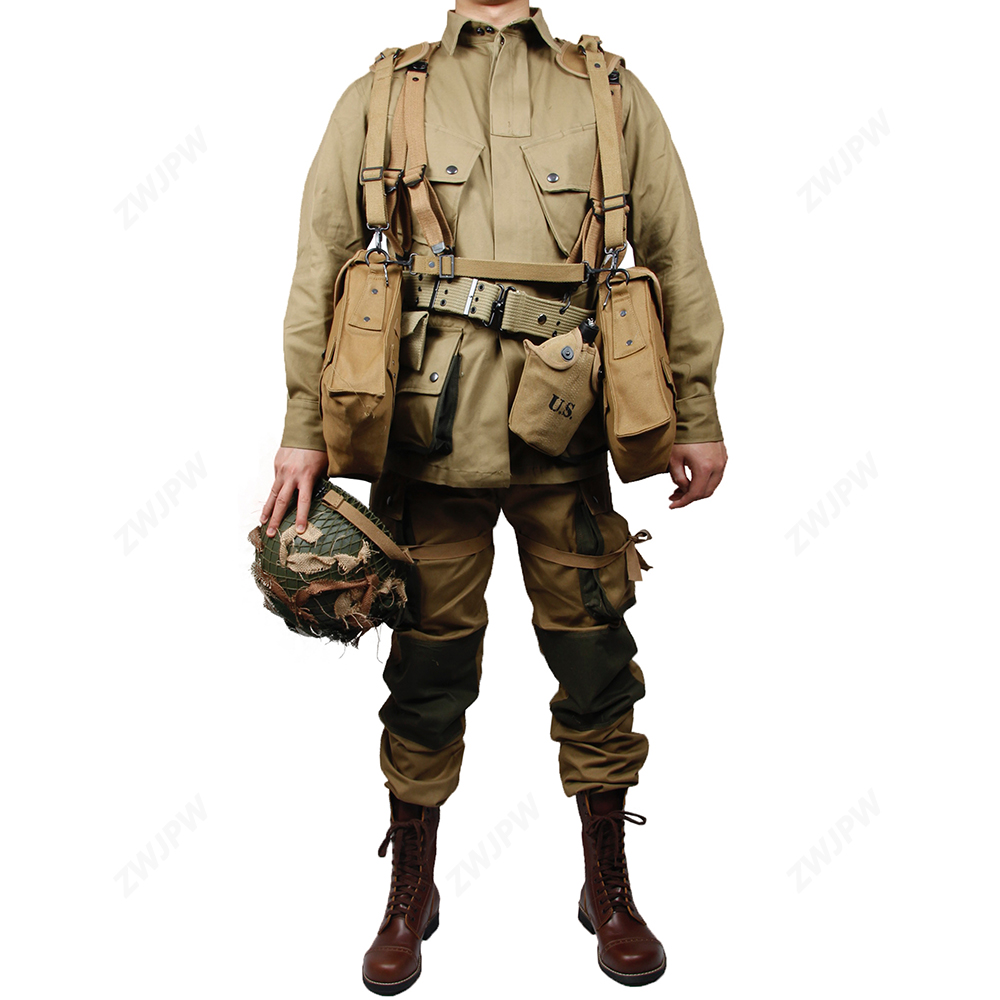 WWII WW2 US Army M42 Soldiers  Paratroopers Uniforms And Medical Equipment