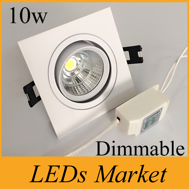 Led Downlights Painstaking White Shell 10w Led Cob Downlights Dimmable Led Fixture Light Lamp Ac90-260v Warm Cool White 60angle 3 Year Warranty Ce Ul Easy To Repair