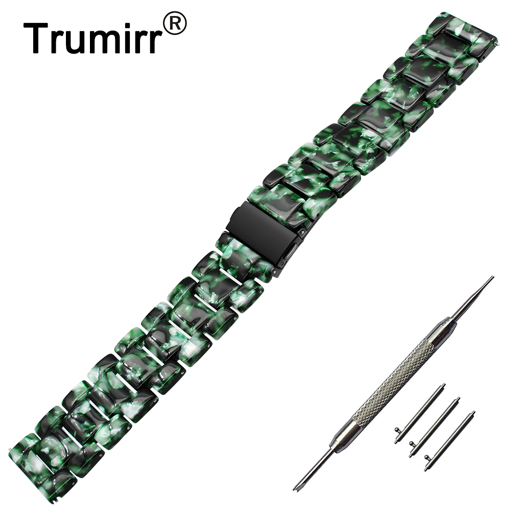 20mm 22mm Quick Release Resin Watchband for Seiko Casio Citizen Tissot Hamilton Fossil Armani Timex Watch Band Steel Clasp Strap