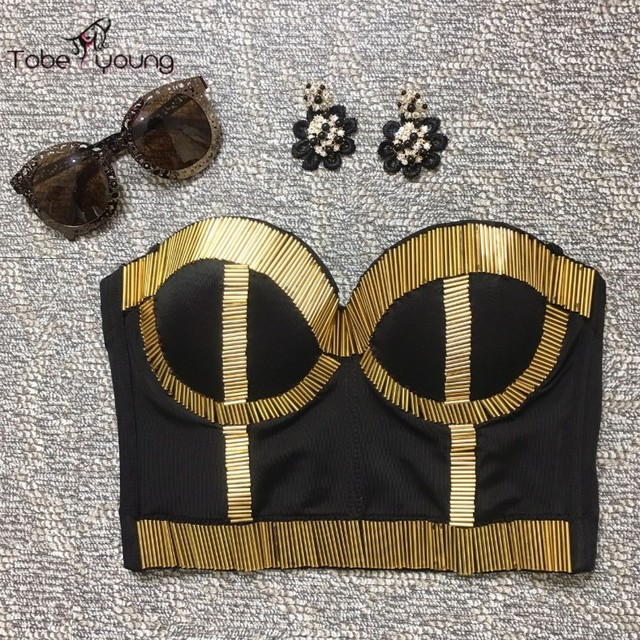 709ba541e 2016 New Sexy Quality Push Up Bra Bustier Top Bralette Bodycon Cropped Tops  for Women Vest