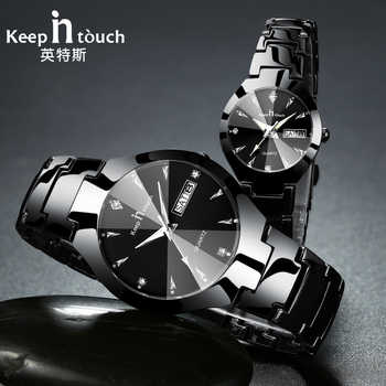 KEEP IN TOUCH Brand Luxury Lover Watches Quartz Calendar Dress Women Men Watch Couples Wristwatch Relojes Hombre 2019 With Box - DISCOUNT ITEM  90% OFF All Category