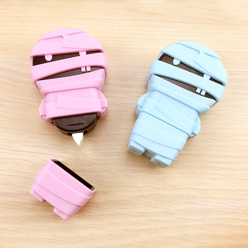 6m Kawaii Mummy Shape Correction Tape Students Pupils Stationery Office Supplies Wiping Writing Corrector Modified Tape