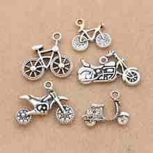 10 pçs antigo prata chapeado bicicleta encantos pingentes pulseira colar jóias fazendo acessórios diy 20x19mm