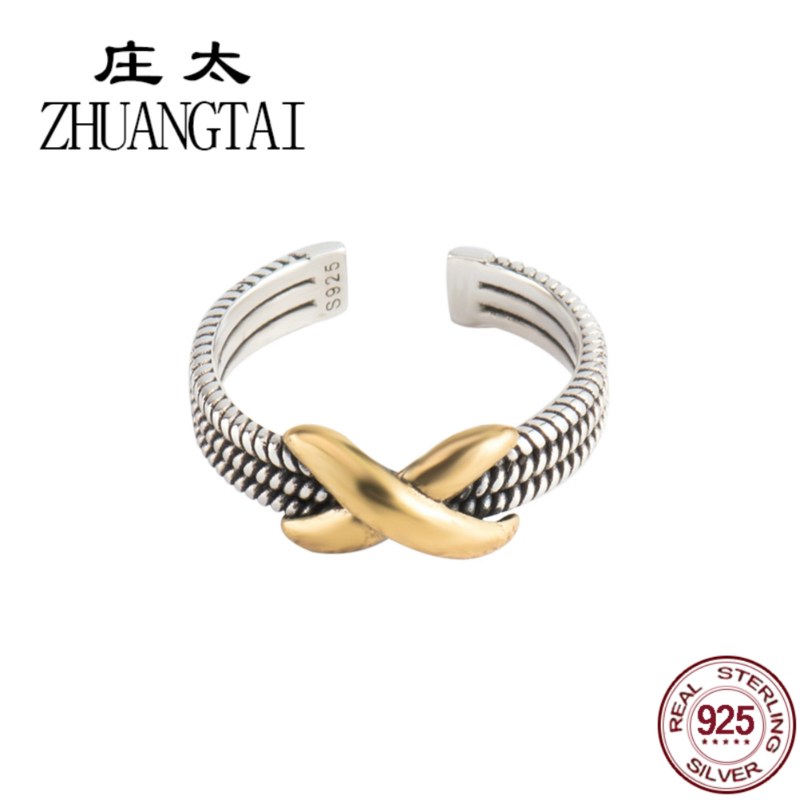 ZHUANGTAI Jewelry Real 925 Sterling Silver Ring Lol Punk Finger For Women Hand Favourite Anillo Plata Colorful Rings Mujer