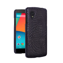 цены For LG Google Nexus 5 Nexus5 D820 D821 Case Quality PC Crocodile Grain Back Cover Hard Case for LG Google Nexus 5 D 820 821