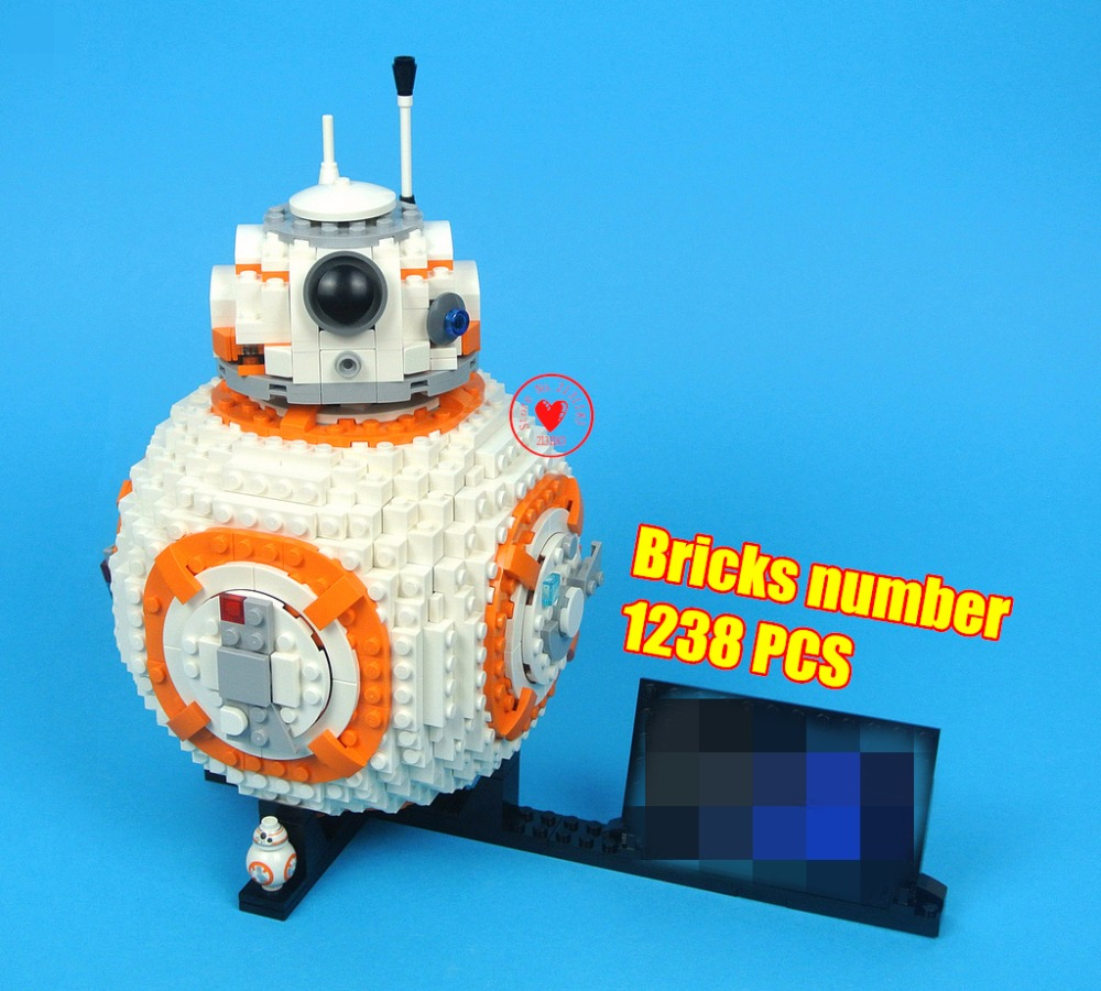 lepin Star Wars Robot bb8 fit legoings star wars figures technic model Building Block bricks fit 75187 gift kid toy kid super hero factory 5 star wars bulus robot 20cm action toy figure building bricks block 44004