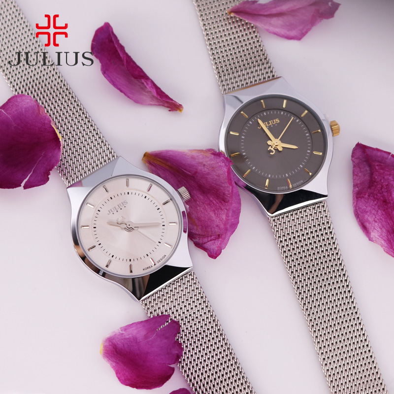 Thin Japan Quartz Julius Women's Watch Simple Hour Fashion Classic Clock Bracelet Stainless Steel Lover's Girl Birthday Gift Box thin japan quartz julius women s watch simple hour fashion classic clock bracelet stainless steel lover s girl birthday gift box