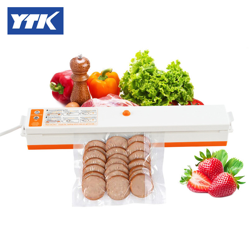 YTK Vacuum Heat Sealer Portable Household Automatic Vacuum Food Packing Plastic Sealing Machine Kitchen Tool with Bags portable snacks bag heat sealer bag cilps vacuum resealer bags seal packing device handheld heat sealing machine kitchen tool