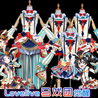 Love Live Honoka Kotori Umi Eli Nozomi Maki Rin Hanayo Nico Circus Ver Clown Cos Dress