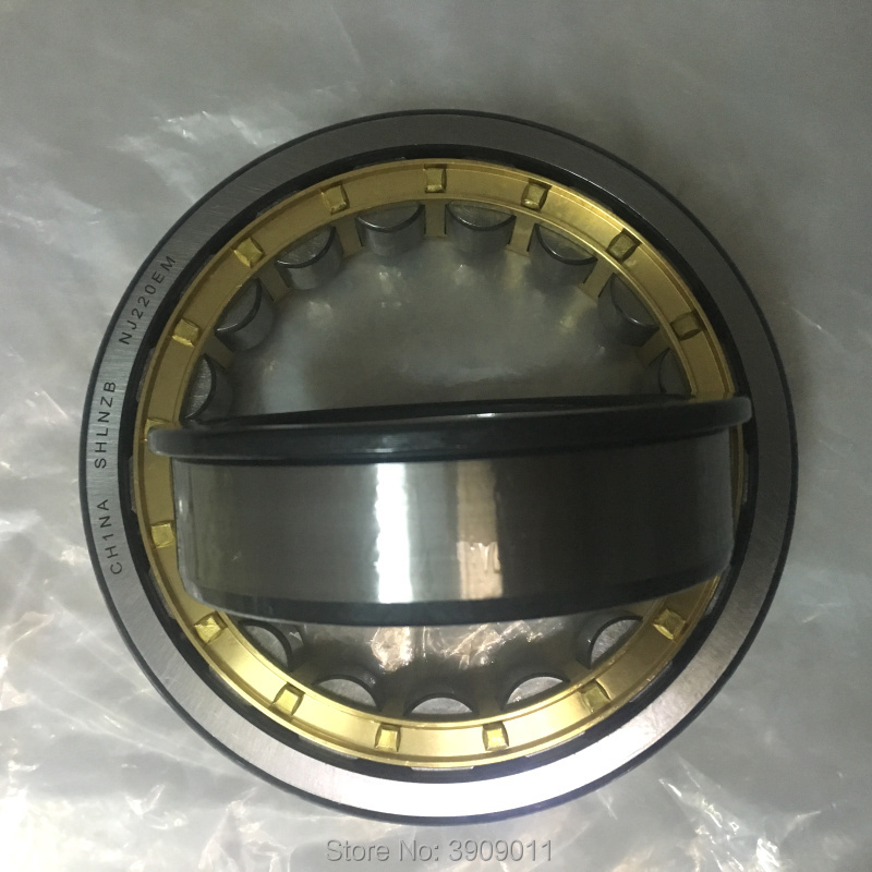SHLNZB Bearing 1Pcs NJ2220 NJ2220E NJ2220M NJ2220EM NJ2220ECM C3 100*180*46mm Brass Cage Cylindrical Roller Bearings shlnzb bearing 1pcs nu2328 nu2328e nu2328m nu2328em nu2328ecm 140 300 102mm brass cage cylindrical roller bearings
