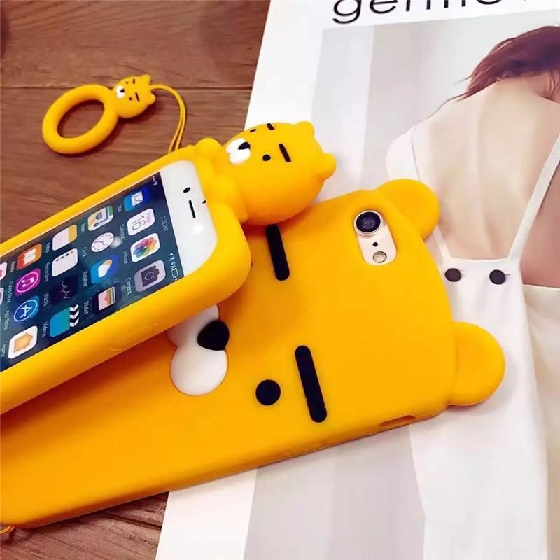 7d477cf4d9 3D Silicone Soft Cartoon Iphone X 6 6S 7 8 Plus Korean Ryan Phone Cases For  ...