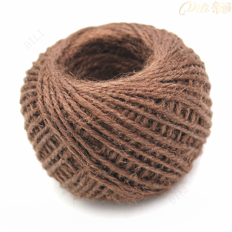 1.5mm Hemp Rope Hang Tag Sling String Brown Hemp Cords 50 Meters Garment Tag Line Clothing 3 Ply