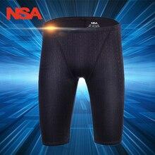 NSA Arena купальный костюм для мужчин, купальный костюм, профессиональные Гидрошорты для плавания, шорты для соревнований, тренировочный купальник