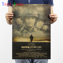 Ahorro privado Ryan/película de guerra pósteres vintage papel kraft retro/pintura decorativa de Bar 51x35cm