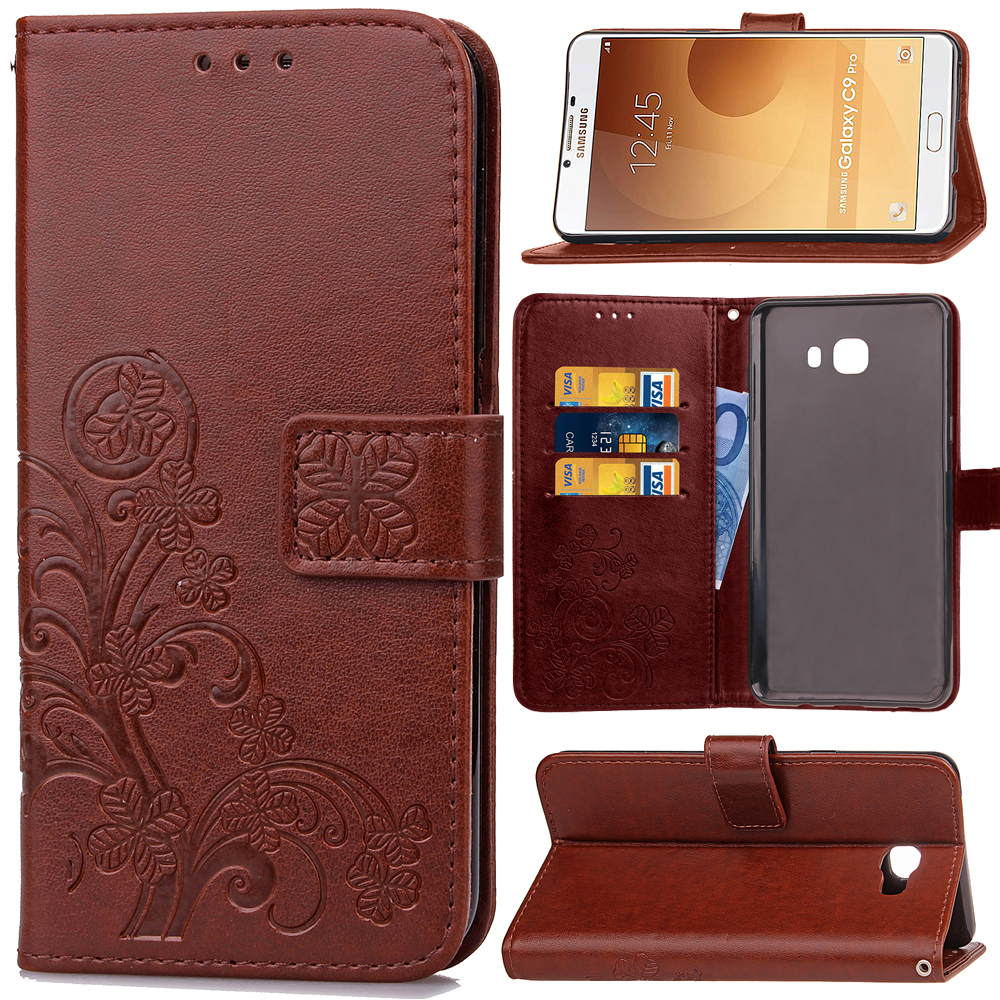 For Samsung Galaxy C9 Pro Sm C900 Flip Case Soft Pu Leather Cover Phone Bag Shell Stand Card Slot In Cases From