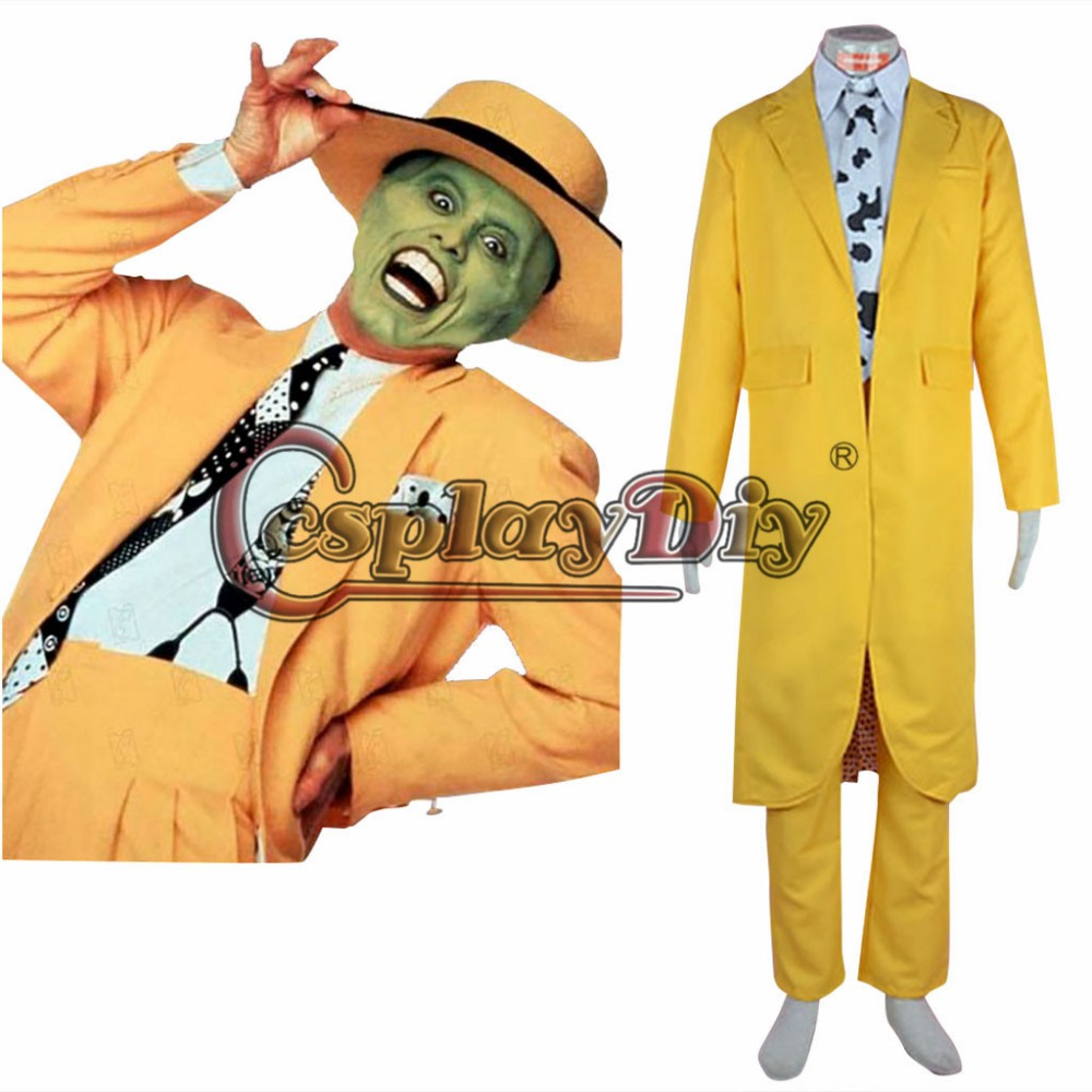 Cosplaydiy Movie The Mask Stanley Cosplay Costume Adult font b Men b font Halloween Outfit Custom