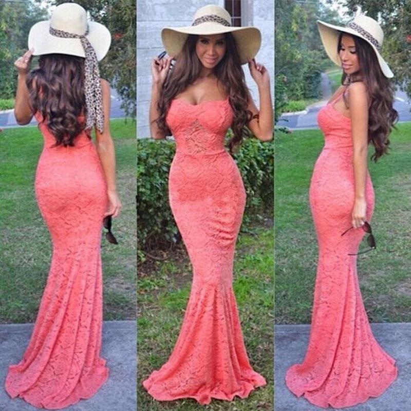 Lujoso Vestidos De Dama De Coral Naranja Inspiración - Colección del ...