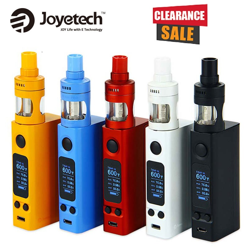 Joyetech EVic VTwo Mini Vape Kit W/4 Ml Cubis Pro Tanque Vs 75W VTWO MINI MOD NO 18650 Kit De Bateria E-Cigarro Vs EVic Primo Mini