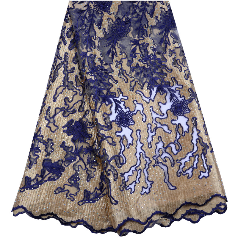 Latest African Lace Fabric 2019 Swiss Cotton Dry Lace Fabric High Quality French Lace Fabric With