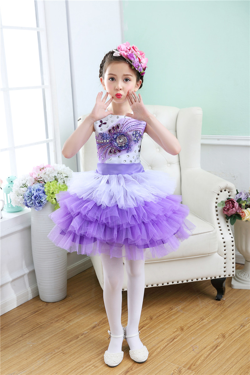 Fashion 2 To 12 Years Old Kids Ruffle Spring Flower Girl Dress For