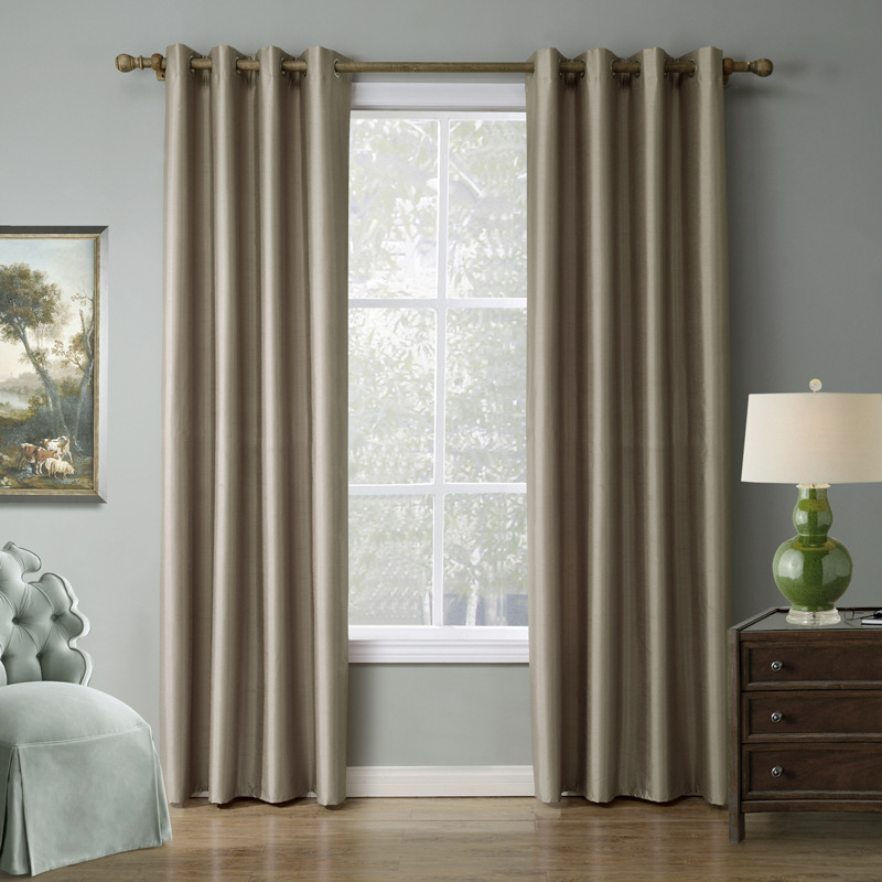 Blackout Curtains For Living Room Hotel European Simple: Solid Blackout Curtains Drapes For Living Room Window