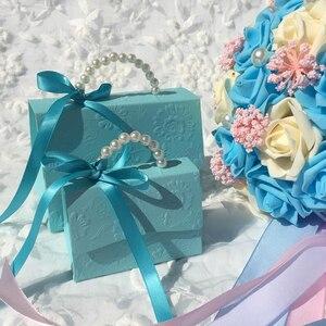 Image 4 - RMTPT Tragbare Hochzeit Party Favor Boxen Schokolade Treat Süßigkeiten Boxen mit Bändern für Hochzeit Braut Dusche Baby Dusche Geburtstag