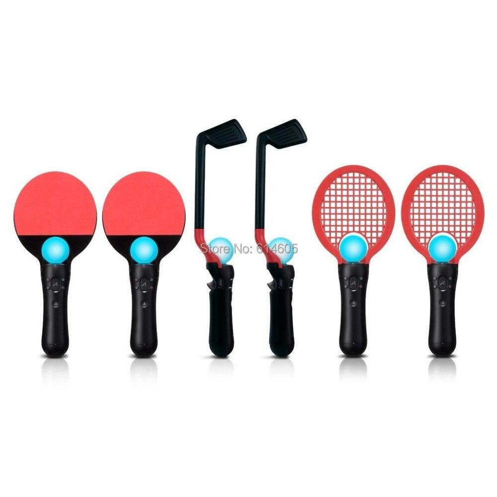 8 ב 1 תחרות ספורט חבילה גולף טניס פינג פונג עבור Sony PS3 Move PS בקר משחק