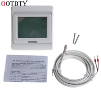 LCD Programmable Floor Heating Thermostat Controller Temperature Touch Screen Tester Tools New