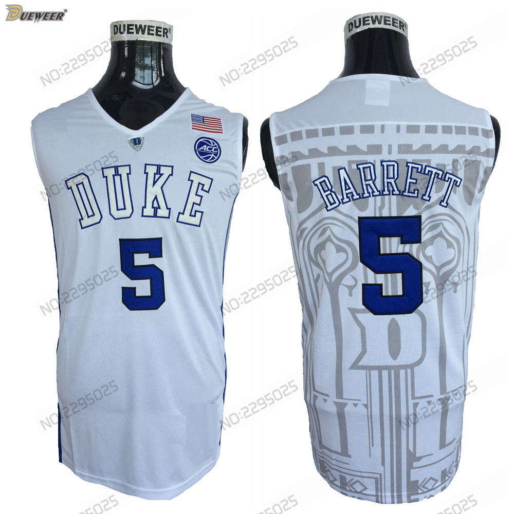 ecf50d92d87 ... switzerland dueweer mens 2018 duke blue devils r. j. barrett college  basketball jersey black 5 rj barrett