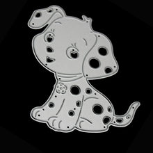 66.6x79.5mm Cute Baby Dog Shape Cutting Dies Metal Embossing Stencil Die Craft For DIY Cards Album Book Scrapbooking Decoration(China)
